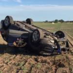 Kansas sheriff's deputy hospitalized after SUV rolls during chase