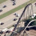 Kids rescued after Oklahoma City roller coaster gets stuck (Video)