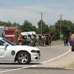 Kansas man dies, woman hospitalized after Jeep, semi crash