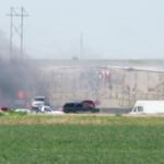 Fire consumes Mid Kansas Auto Auction building