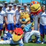 Mason, Jayhawks take part in Honorary First Pitch at Kauffman Stadium