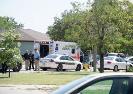 Police on the scene of the August 18 officer involved shooting in Hays.