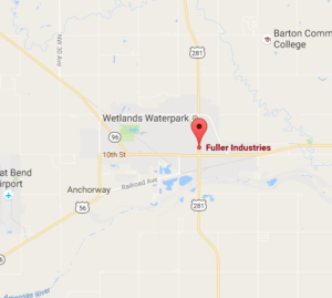 Location of the Fuller Plant-google map