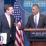 Obama praises outgoing press secretary, Kansas City native