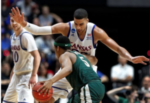 Jayhawks run past Michigan State for Sweet 16 berth