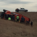 3 Kansas men hospitalized after trash truck rolls