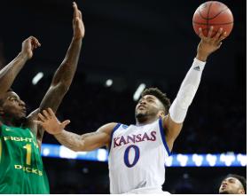 Kansas falls to Oregon in Elite Eight