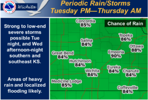 Promise of widespread locally heavy rain Tuesday night into Wednesday