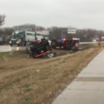 KHP: Driver hospitalized after semi overturns on I-70