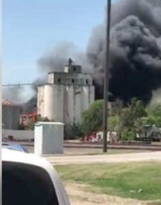 VIDEO: Fire destroys old mill in Ellsworth County
