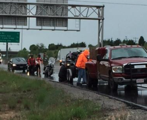 2 hospitalized after I-70, chain-reaction motorcycle accident