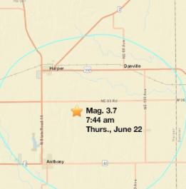 USGS reports 4th Kansas earthquake this week