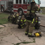 Firefighter injured after ceiling collapse during Kansas blaze