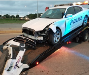 2 suspects jailed after chase, crash into Kansas police vehicle