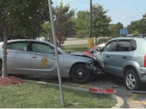 KHP trooper hospitalized after 4-vehicle crash