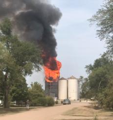 Fire destroys McPherson County grain elevator