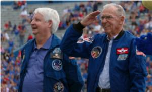 Salina native, former astronaut leads KU homecoming festivities