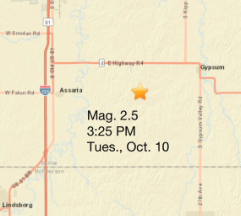 USGS: Small earthquake in Saline County