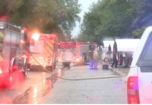 Lightning blamed for Saturday fire at Kansas home