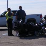 Kansas man hospitalized after Harley-Davidson hit a Buick