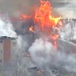 Kansas motel partially collapses during blaze