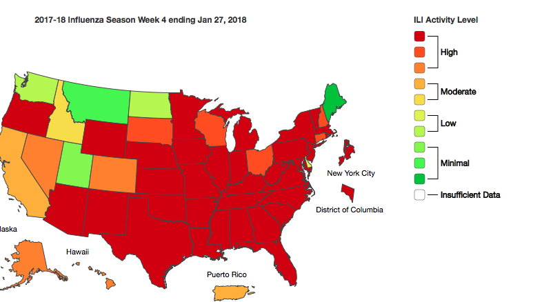 CDC Flu map-click to enlarge