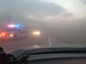 NW Kansas dust storm slows deputies working accident