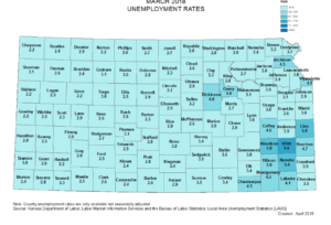 Jobless rate in Saline Co. down slightly in March