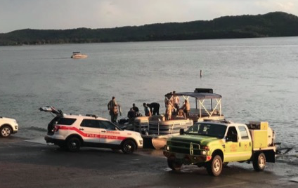 First responders on the scene of the lake accident Thursday evening