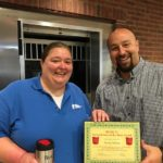 Amber Shelton is Presented With Her BANK VI Hero of the Week Award