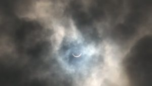 Despite clouds eclipse visible in Salina Monday