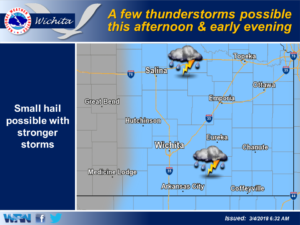 Thunderstorms and possible hail