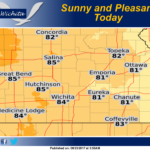 Sunny and pleasant today