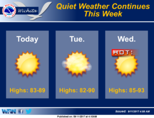 Quiet weather continues this week