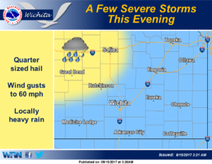 Storms possible this evening