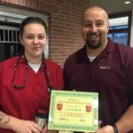 Kenedy Obrecht is Presented With Her BANK VI Hero of the Week Award