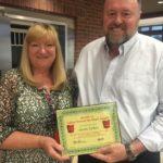 Susan Tucker is Presented With Her BANK VI Hero of the Week Award