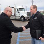 Bradley Trucking donates truck and trailer to Salina Tech