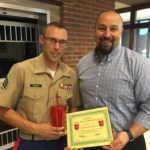 Sgt. Brandon Uhrich is Presented With His BANK VI Hero of the Week Award