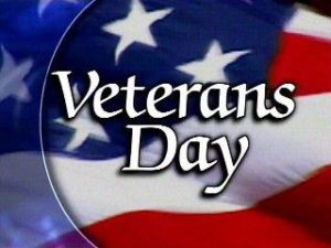 City Offices to Close for Veterans Day