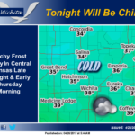 Wednesday Night – Cold with patchy frost likely