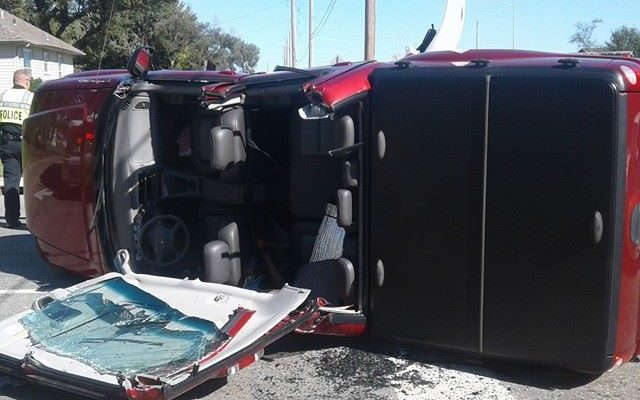 UPDATE: One Hospitalized After Two Vehicle Rollover Accident