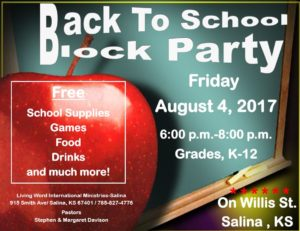 Haircuts and school supplies available at Back to School Block Party