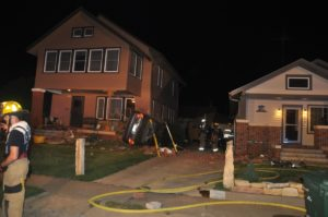 Car crashes into house early this morning