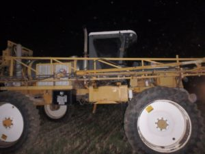 Fire causes extensive damage to field sprayer Monday night