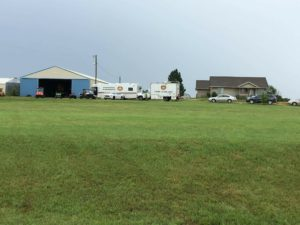 Authorities at the scene of a home near Assaria early Sunday (Photo Courtesy of Christine Womochil)
