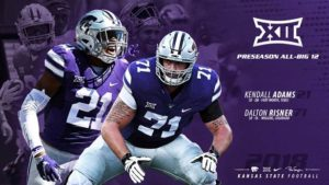 K-State's Risner, Adams Earn Preseason All-Big 12 Honors