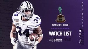 K-State's Barnes Named to Maxwell Award Watch List