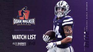 K-State's Barnes on Watch List for Doak Walker Award