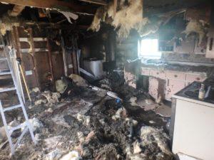 Fire destroys kitchen in rural rental